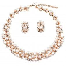 Жемчужное ожерелье  с серьгами для женщин и девушек.