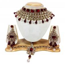Ювелирные изделия ожерелье комплект с Тикка и серьги для женщин.