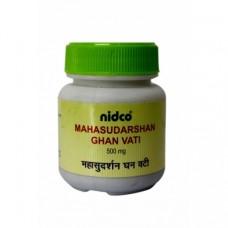 Махасударшана Гхана Вати: лечение ЖКТ и вирусных заболеваний, 30 таб, производитель Нидко