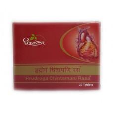 Храдрога Чинтамани Раса, лечение сосудов и сердца, 30 таб, производитель Дхутапапешвар