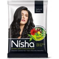 Краска для волос на основе хны Nisha Natural (натуральный черный) 10 г в упаковке