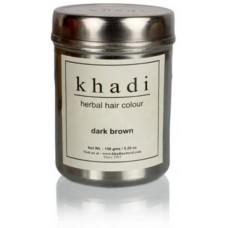Краска для волос травяная Темно-коричневая, 150 г, производитель Кхади
