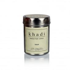 Краска для волос травяная Черная, 150 г, производитель Кхади