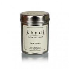 Краска для волос травяная Cветло-коричневый, 150 г, производитель Кхади
