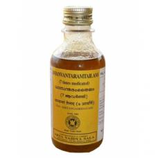 Дханвантарам Тайлам, противовоспалительное и омолаживающее массажное масло, 200 мл, производитель Коттаккал Аюрведа