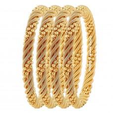 Позолоченные браслеты для женщин - набор из 4шт