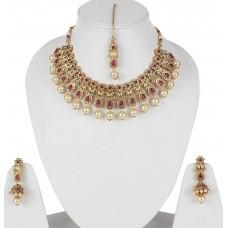 Стильный античный жемчуг традиционное ожерелье комплект ювелирных изделий для женщин