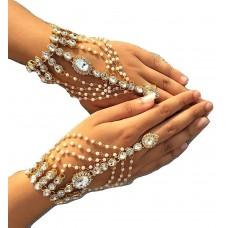 Жемчужный браслет/палец кольцо браслет для женщин и девочек