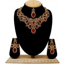 Комплект ювелирных изделий (бордовый)