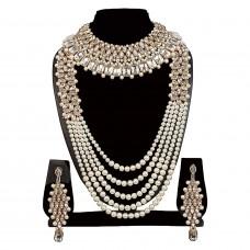 Жемчужное ожерелье с серьгами для женщин