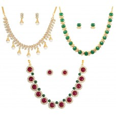 Из белого, красного и зеленого сплава металла ожерелье наборы для женщин.