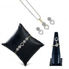 Ювелирные изделия, ожерелье кулон набор / кольцо / браслет с серьгой для женщин.