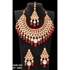 Ожерелье, Серьги  и тикка. Набор
