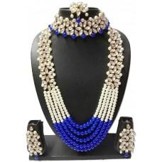 Металлический набор драгоценностей (синий)