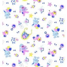 Пеленка фланелевая с рисунком 90х120