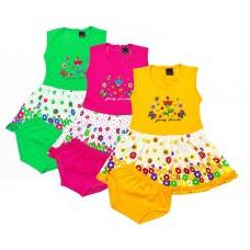 Платье с трусиками комплект одежды( в упаковке 3)