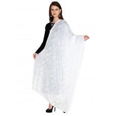 Белый индийский шарф