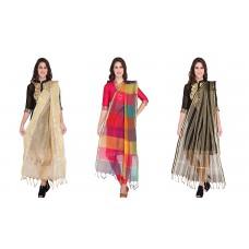 Индийский шарф комбинированный. Пакет из 3 шелковых Индийских шарфов.