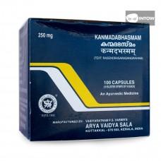 Канмадабхасмам для восполнения дефицита кальция, 250 мг, 100 капсул, производитель Коттаккал Аюрведа